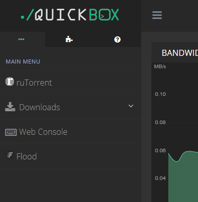 Install Flood on your seedbox - QuickBox Dashboard link